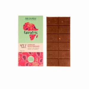 Fairafric Milchschokolade mit Haselnüssen