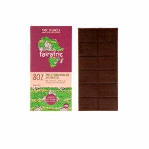 Fairafric Schokolade 80% mit Fleur de sel