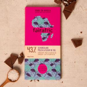 Fairafric Milchschokolade mit Fleur de sel